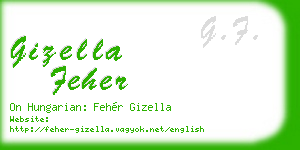 gizella feher business card